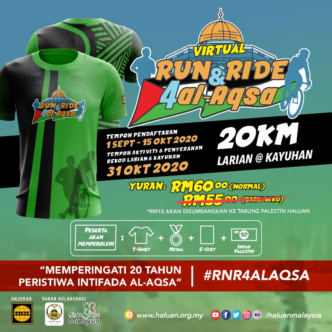 VIRTUAL RUN & RIDE FOR AL-AQSA