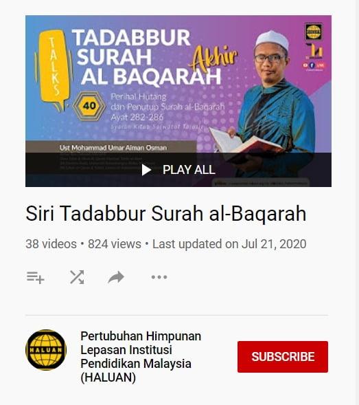 Siri Tadabbur Surah Al-Baqarah