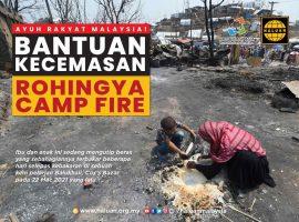 Rohingya Camp Fire