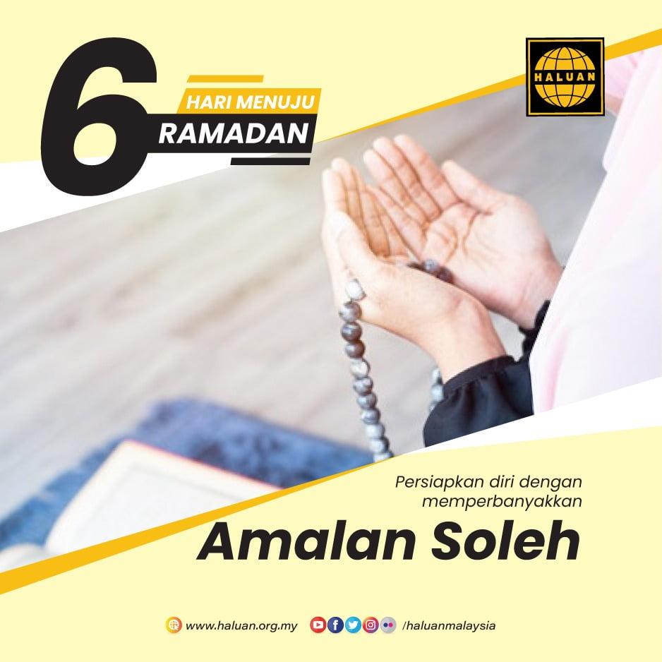 Persiapkan Ramadan Dengan Amalan Soleh
