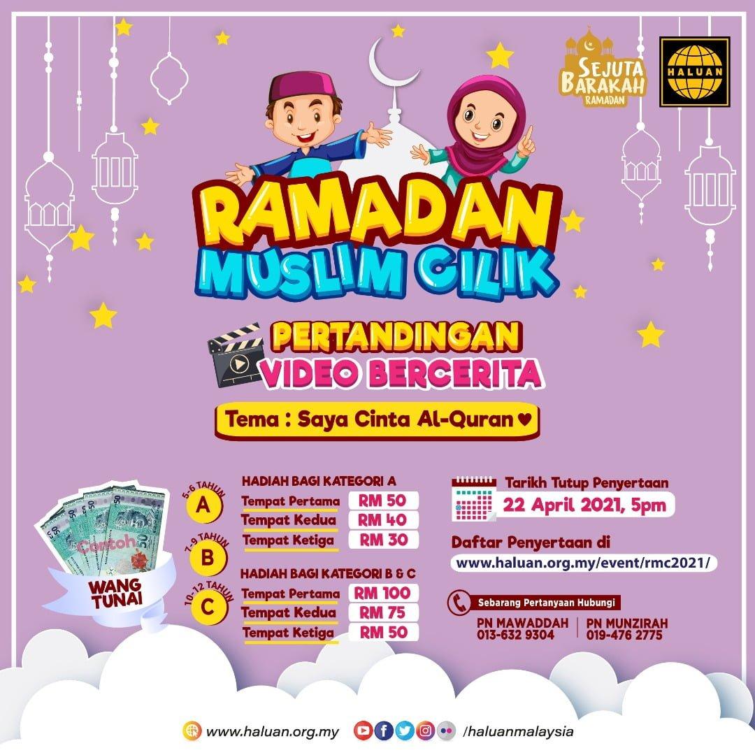 ✨ Ramadan Muslim Cilik 2021: Pertandingan Video Bercerita ✨