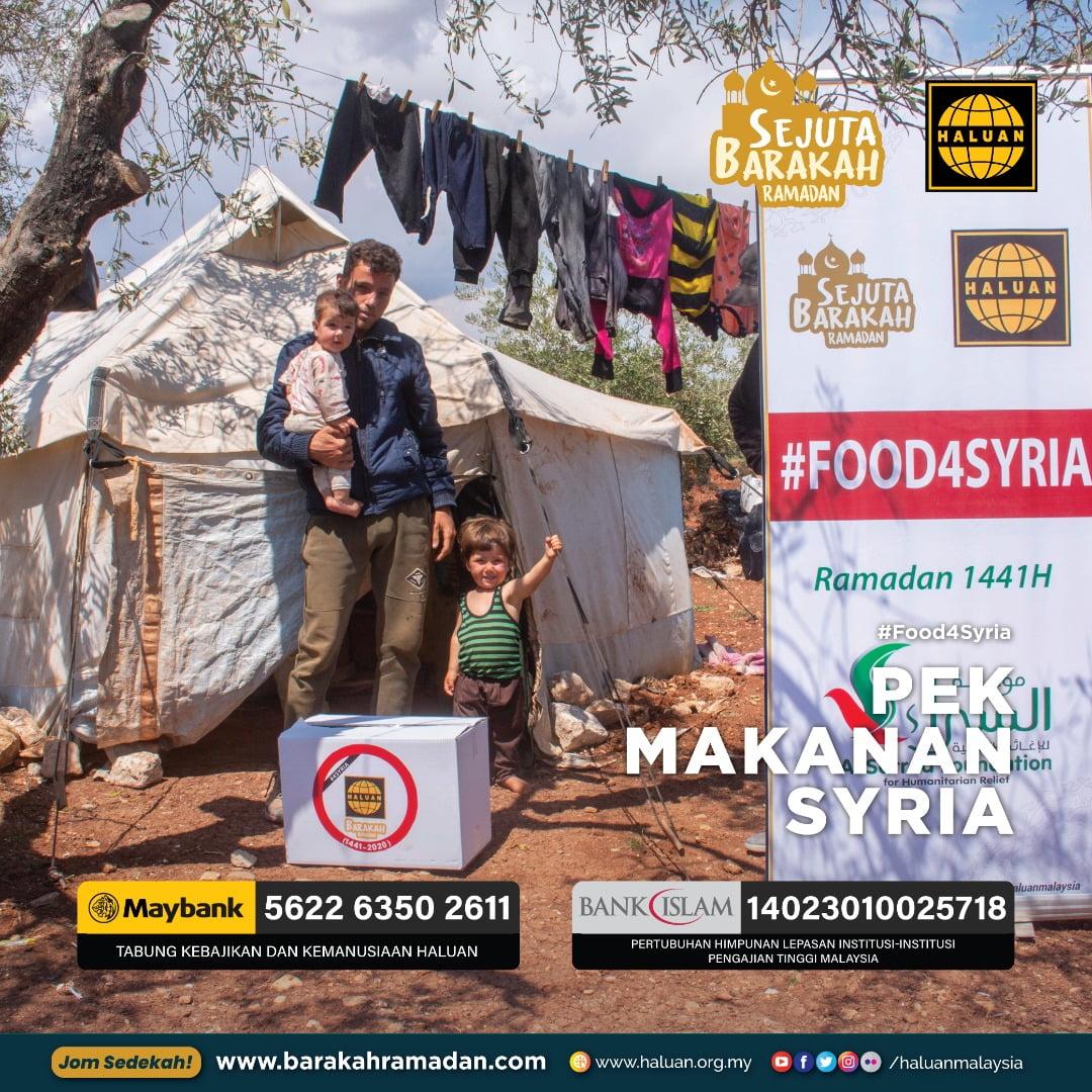 Sedekah Makanan Untuk Anak-anak Syria