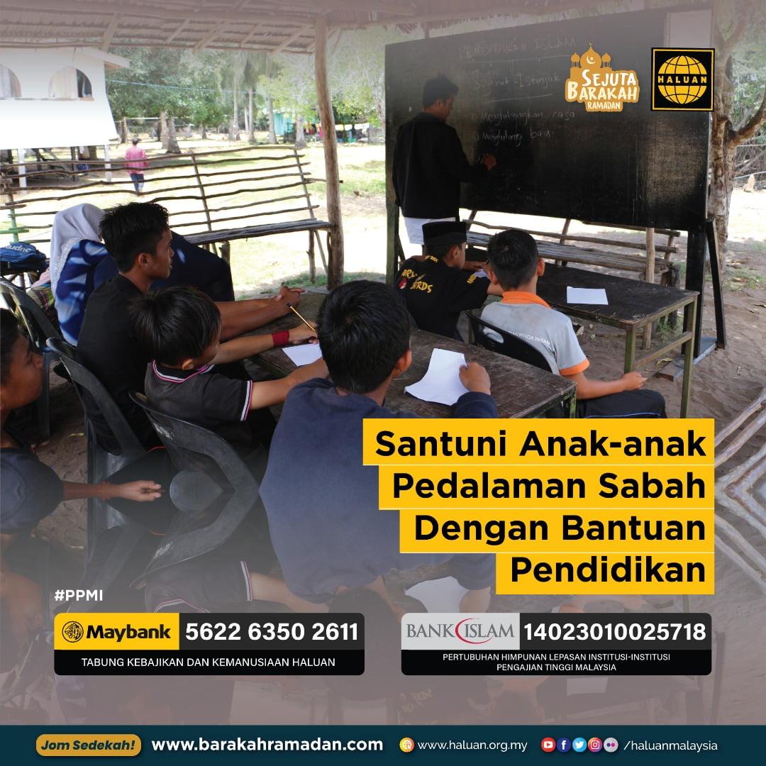 Santuni Anak-anak Pedalaman Sabah Dengan Bantuan Pendidikan
