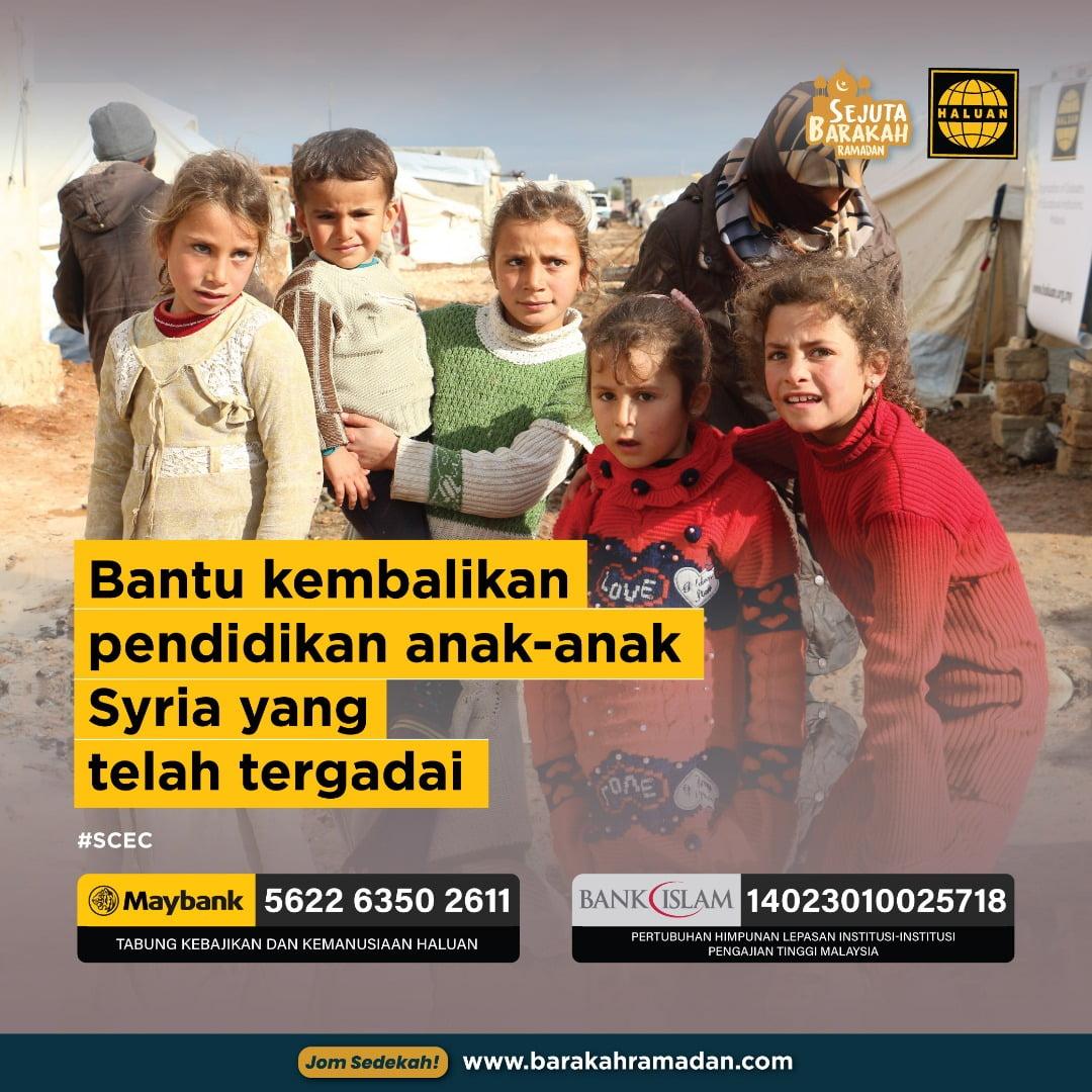 Hantar Anak-anak Syria ke Sekolah
