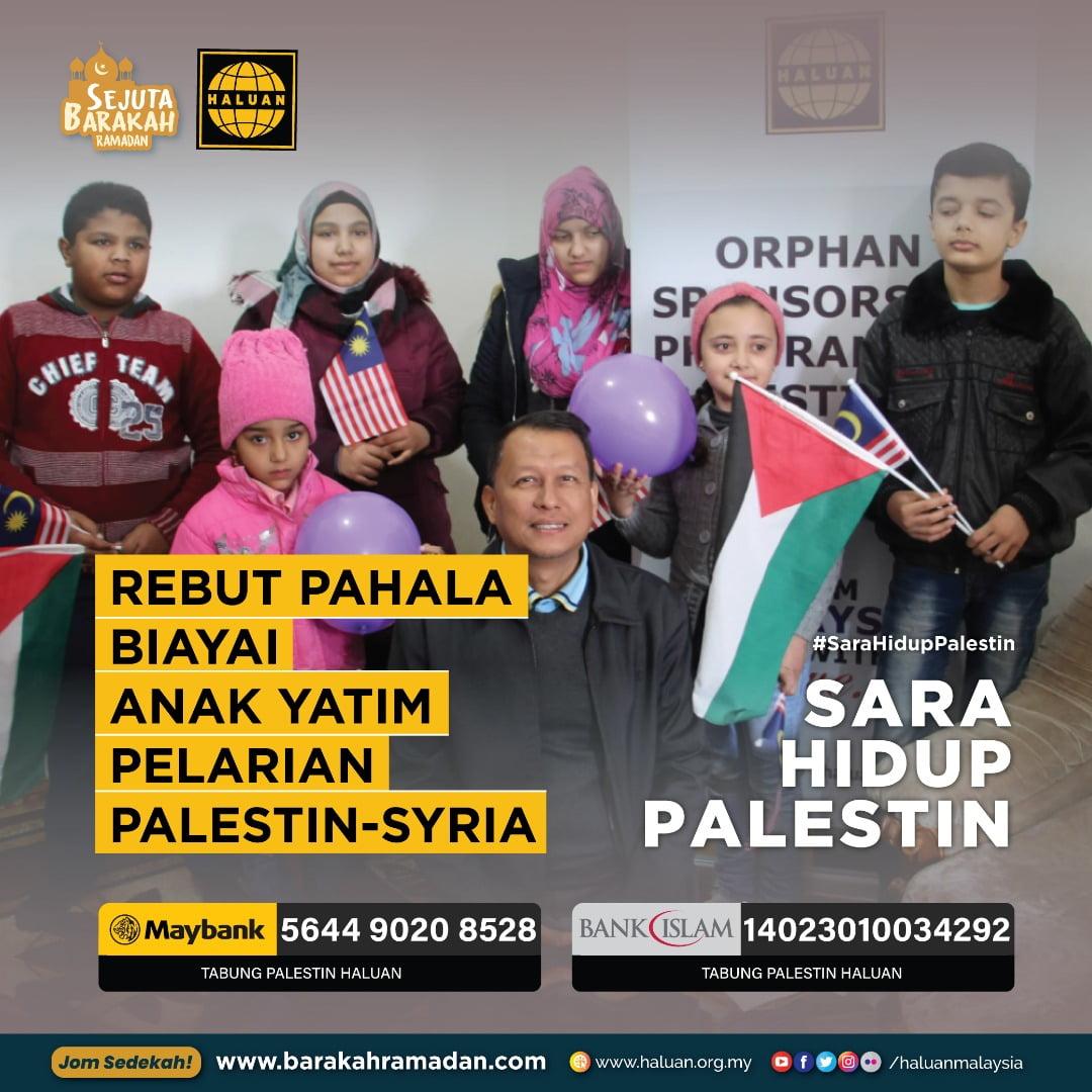 Rebut Pahala Biayai Anak Yatim Pelarian Palestin-Syria