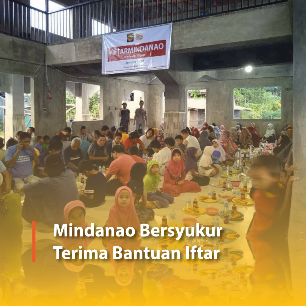 Mindanao Bersyukur Terima Bantuan Iftar