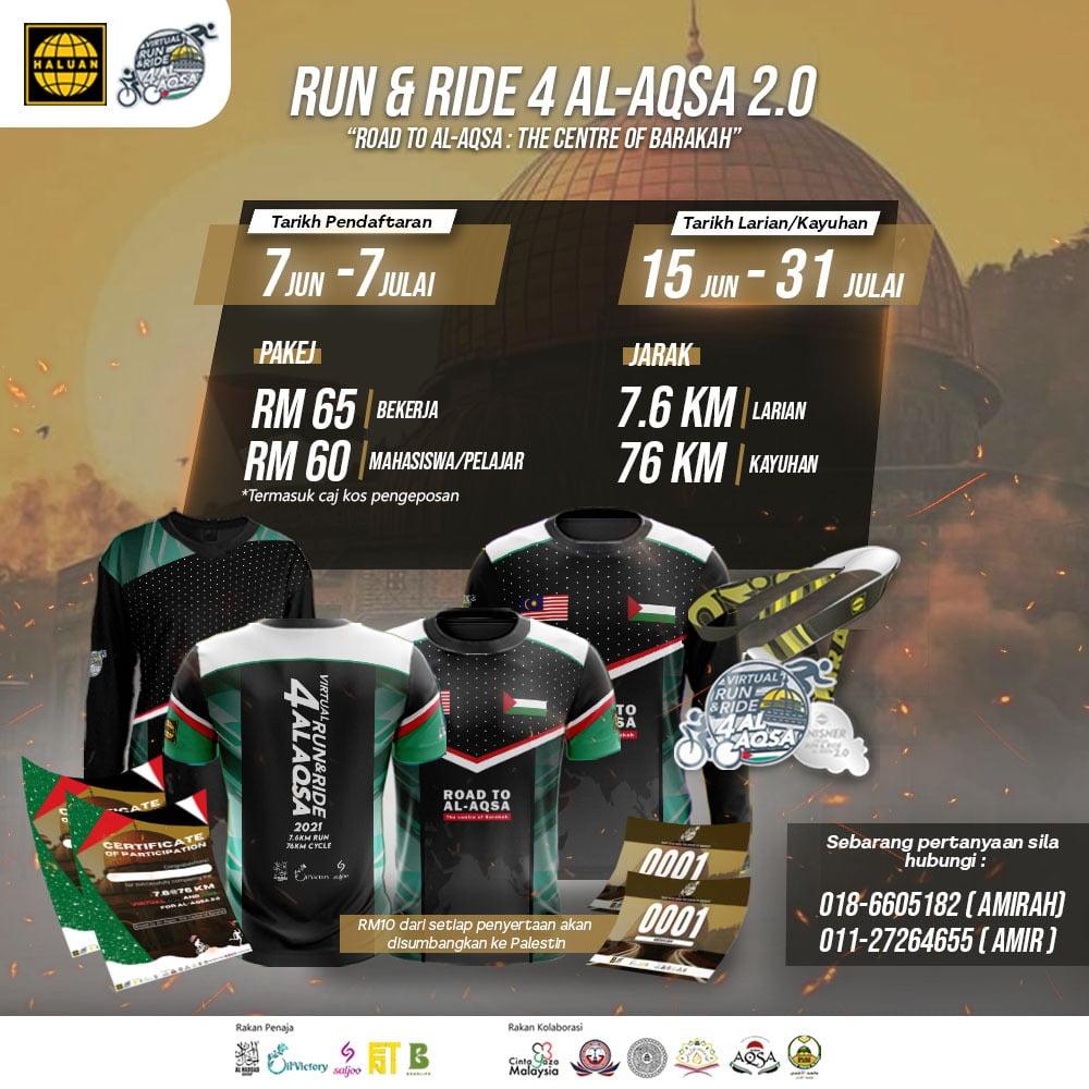 VIRTUAL RUN & RIDE FOR AL-AQSA 2.0
