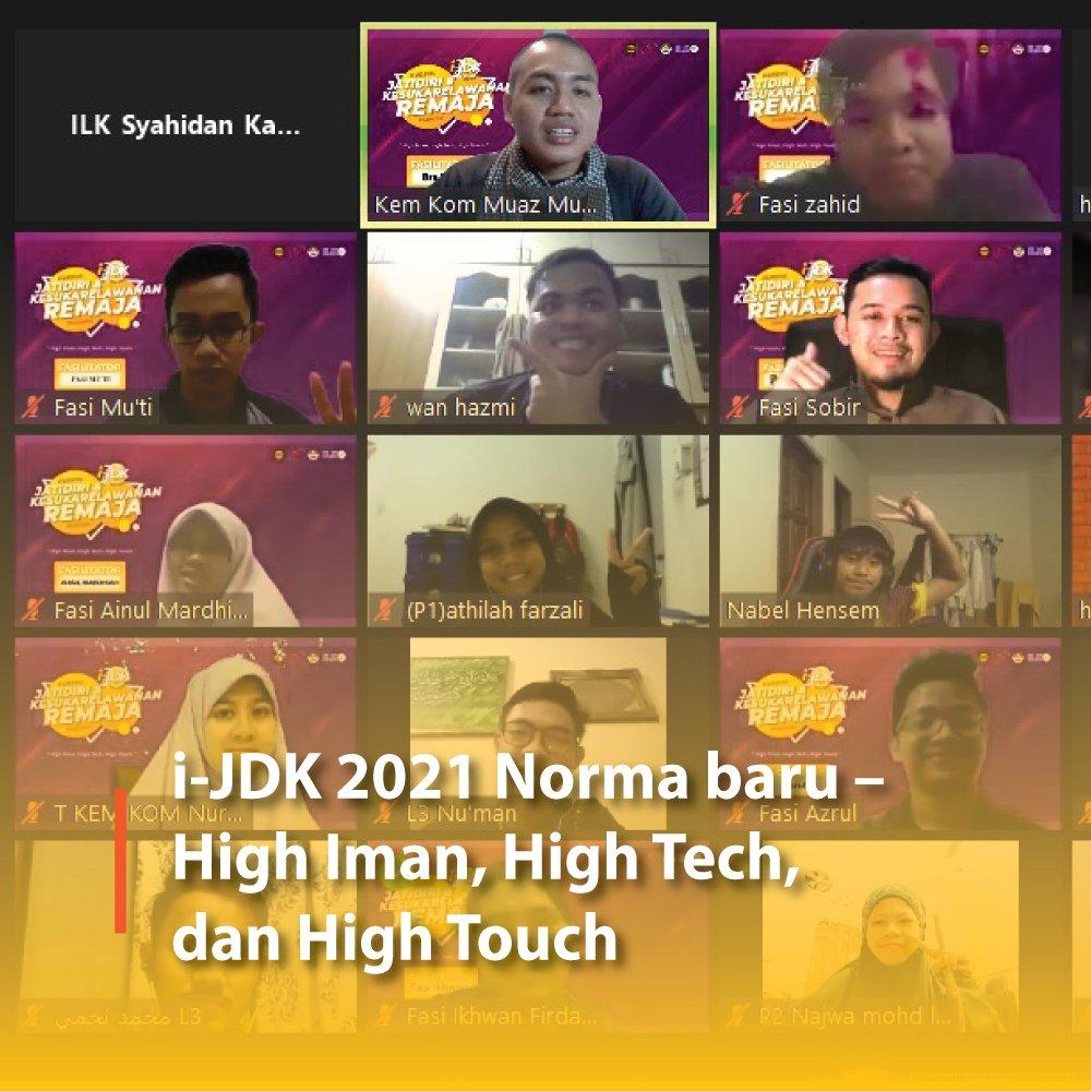 i-JDK 2021 Norma baru – High Iman, High Tech, dan High Touch