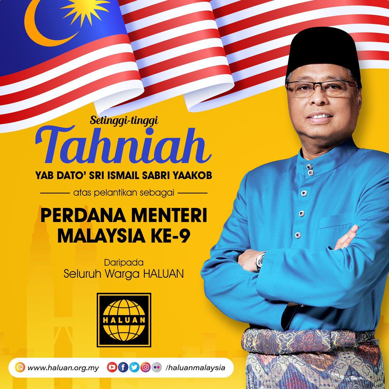 Tahniah Perdana Menteri Malaysia ke-9